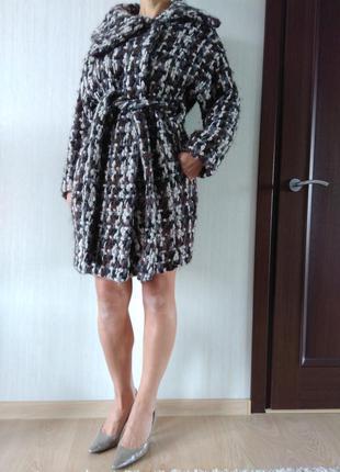Красивое, стильное,очень теплое,, шерстяное пальто oversize. р, 38.