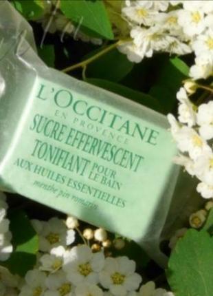L'occitane тонізуючий кубик для ванни сосна-м'ята-розмарин 33 г