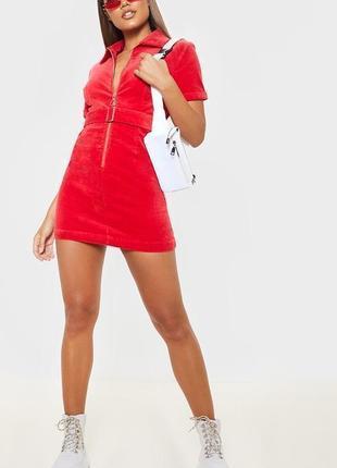 Платье карго с поясом из вельветовой ткани glamorouse