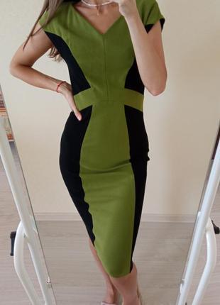 Силуэтное платье миди marc cain/сукня