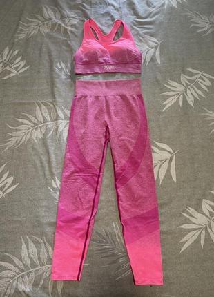 Комплект для фитнесса, костюм для йоги pink, victoria's secret