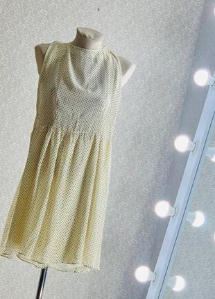 Шикарное шифоновое платье /сарафан в горошек