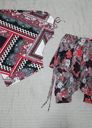 Костюм летний женский футболка и бриджи