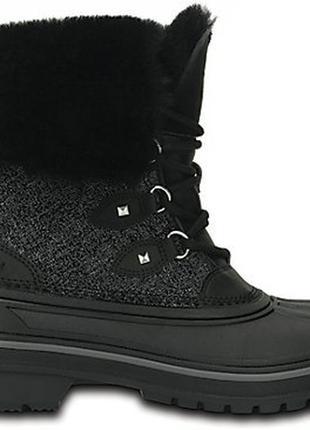 Сапоги crocs womens allcast ii luxe boot оригинал. w6-11