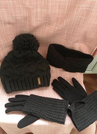 Шапка, перчатки, повязка