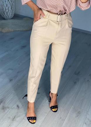 Женские стильные брюки с поясом