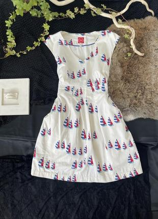 Платье летнее, короткое, сарафан с завышенной талией