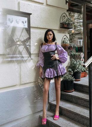 Платье хлопок +корсет