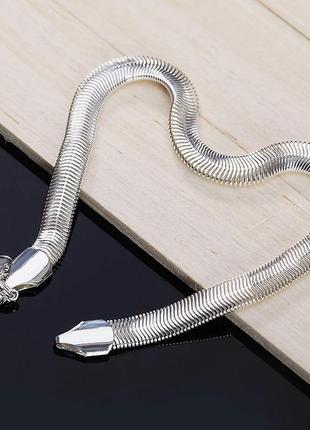 Браслет змея серебро 925 покрытие браслетик посеребрянный