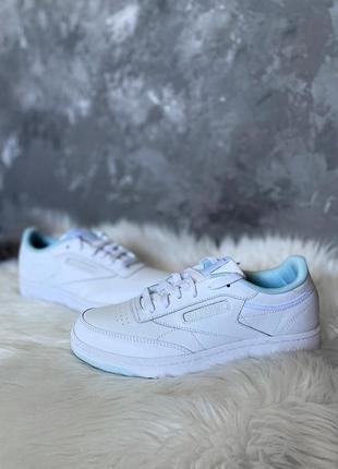 Оригинал! кожаные женские кроссовки reebok club c новые из сша белые кеды