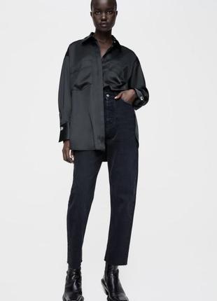 Zara cigarettes новые прямые джинсы женские жіночі джинси