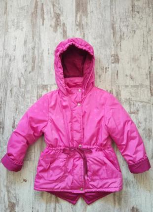 Куртка парка демисезонная розовая осень весна