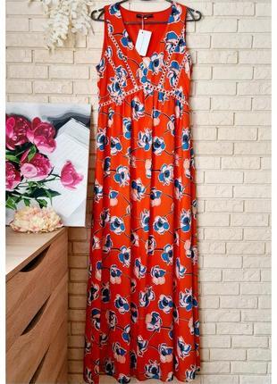 Шифоновое платье сарафан в пол dorothy perkins цветочный принт