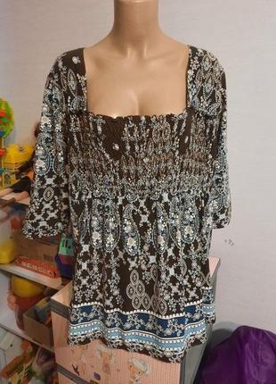Натуральная вискозная блуза от бренда canda, 20 размер