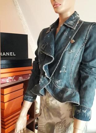Philipp plein! оригинал!  джинсовая куртка/жакет!