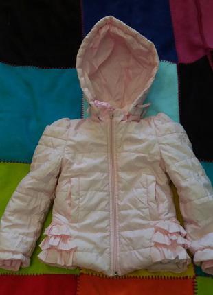 Курточка 2-4 года для маленькой принцессы