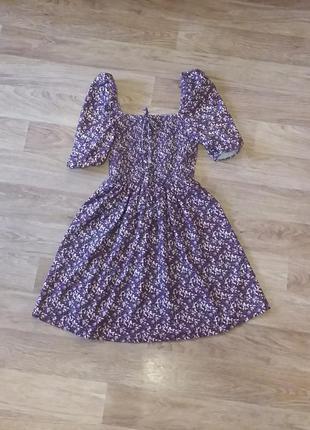 Платье мини с пышными рукавами фонариками, сукня міні xs-s
