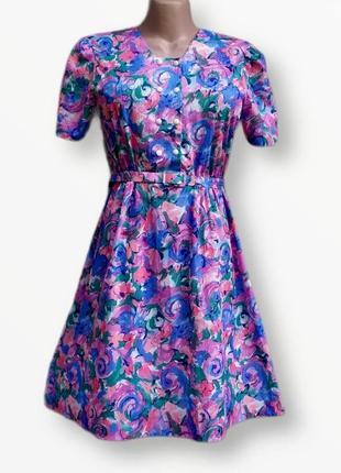 Шикарное винтажное платье большого размера