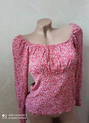 Актуальная новая рубашка  топ блуза из вискозы