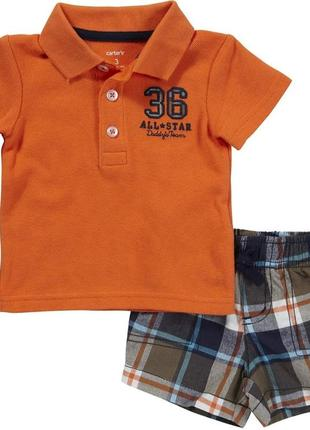 Комплект поло футболка и шорты на 6м