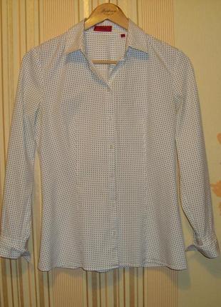 Рубашка в мелкий горошек hugo boss
