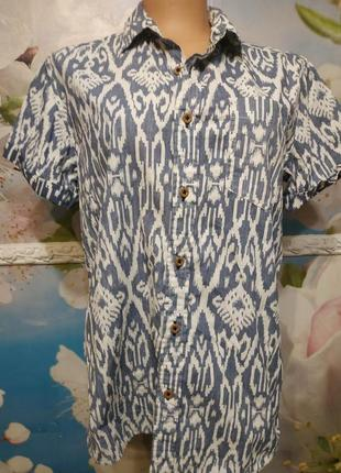 Рубашка летняя 100% хлопок винтаж   м fasy
