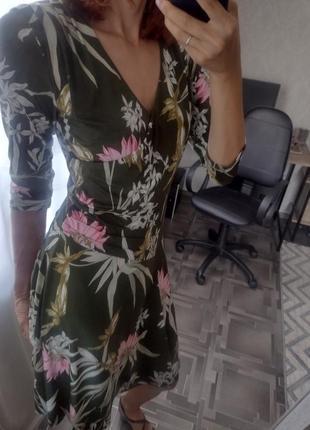 Брендовое платье ilse jacobsen в красивый тропический принт