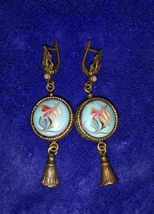 Серьги, кольцо и кулон (серебро)