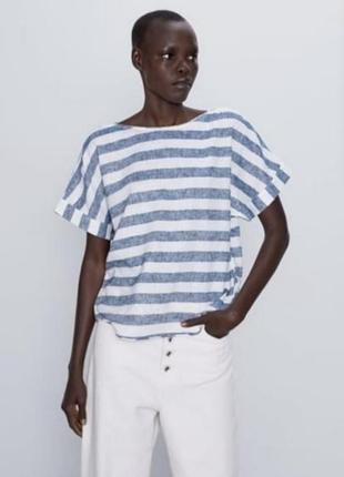 Блуза лен zara