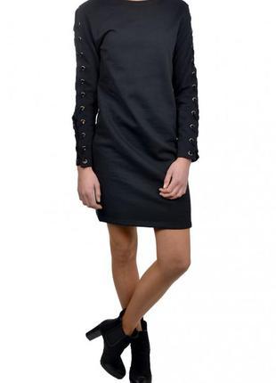 Стильное и теплое платье на байке
