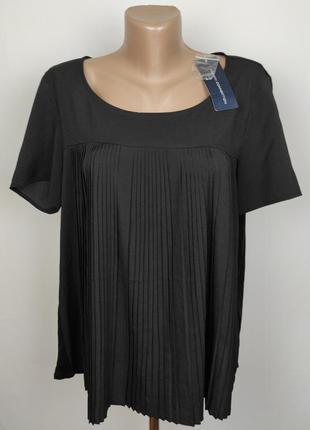 Блуза новая стильная оригинальная плиссированная french connection l