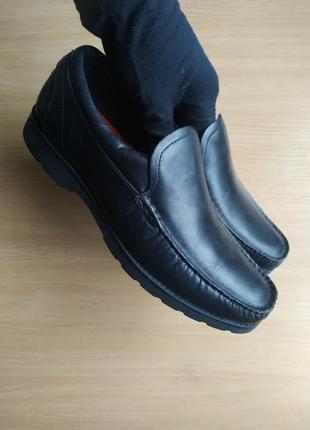 Кожаные туфли/мокасины marks & spencer air flex total comfort р.42