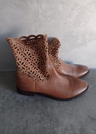 Коданые ботинки коричневые vero cuoio
