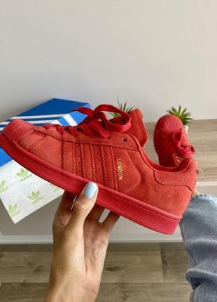 Шикарные женские кеды adidas superstar london красные
