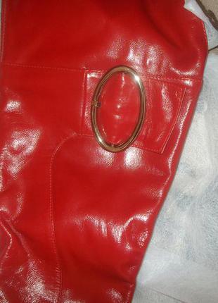 Сапоги красные kadandier 38 р., с утеплителем, обуты  два раза.
