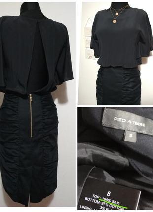 Роскошное фирменное шёлковое платье с открытой спинкой 100% шелк супер качество!!!