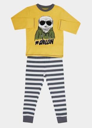 5-6лет пижамка из хлопка джерси из англии
