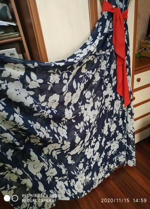 Шифоновое, нарядное  платье в пол на запах