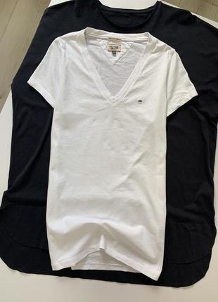 Белая хлопковая футболка tommy hilfiger оригинал
