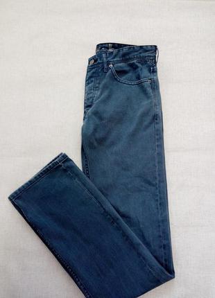 Прямые джинсы от h&m серо-синего цвета