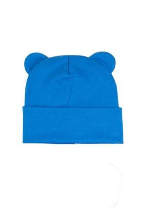 Шапка аквамарин трикотаж осень 🍂 комплект набор шапка хомут снуд трикотаж