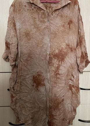 Акция!, новая, рубашка-платье guarapo, 100%х/б, италия, оригинал