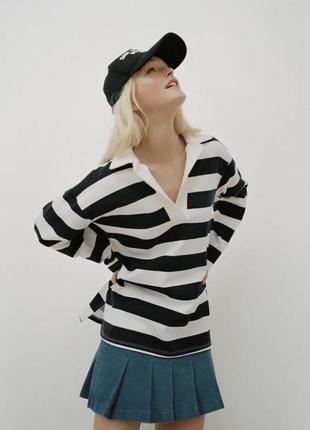 Zara реглан, джемпер, тельняшка, свитер, свитшот, толстовка, кофта, футболка