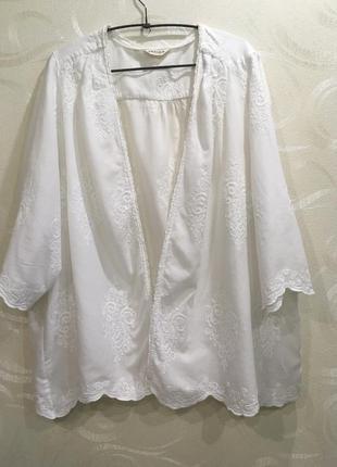 Накидка блуза пиджак с вышивкой marks & spencer indigo р-р. 22