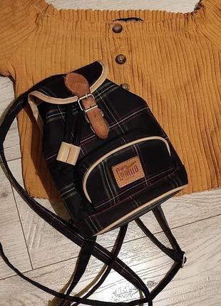Маленький рюкзак шотландка