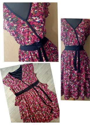 Платье с оборками в цветочный принт laura scott