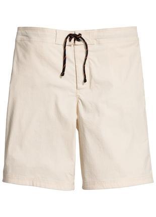 Пляжные купальные шорты бежевые с карманами h&m