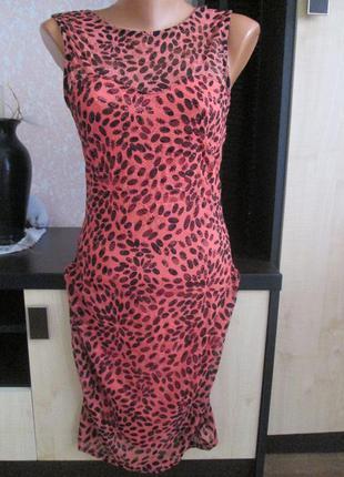 Красивое фирменное платье sisters point цвет коралловый на новогодние праздники