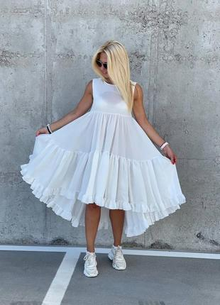 Платье сарафан лён 3 цвета