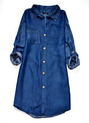 Boohoo  платье рубашка под джинс . с-м